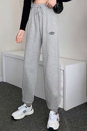 实拍9956运动裤女2021春秋季薄款韩版宽松显瘦束脚休闲哈伦卫裤子
