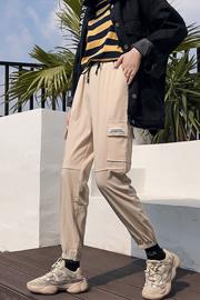 实拍9504运动裤女韩版学生ulzzang百搭ins超火的hiphop工装裤bf风