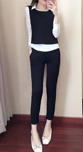 春秋新款名媛女神范套装时尚洋气上衣服气质时髦三件套潮