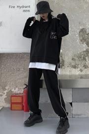 初秋季卫衣2019新款网红款嘻哈原宿酷酷风格ins女装街头两件套装