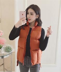 (实拍手塞棉)韩版显瘦百搭短款棉马甲女减龄口袋春秋马夹外套