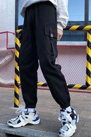 实拍307#嘻哈运动裤女韩版学生ulzzang百搭ins超火的hiphop工装裤
