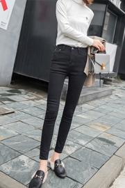 实拍9905 秋季牛仔裤子女九分2018新款高腰显瘦修身小脚弹力韩版