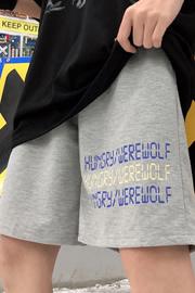 实拍9820#cec夏季超火五分裤子字母宽松休闲运动百搭bf短裤女学生