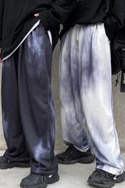 【实拍控价37¥】炸街裤子宽松百搭直筒扎染休闲长裤bf原宿风卫裤