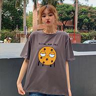 【实拍】95%棉短袖t恤女宽松学生韩版网红港风ins上衣