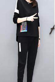 206#欧洲站秋时尚长袖卫衣小脚裤两件套潮宽松显瘦休闲运动套装女