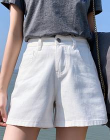 牛仔短裤女夏2020新款外穿韩版宽松学生百搭高腰阔腿a字裤123#