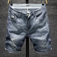 弹力乞丐破洞牛仔中裤男士牛仔短裤男五分裤夏季薄款潮牌七分裤子