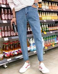 夏季新款牛仔裤男士九分裤韩版修身潮流小脚男生休闲9分牛仔男裤