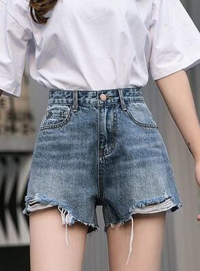 牛仔短裤女2019夏新款韩版chic宽松显瘦阔腿高腰a字泫雅同款热裤