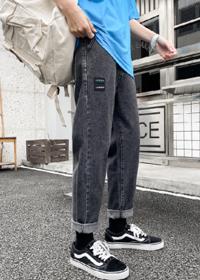 2020夏季九分裤男新款百搭潮流休闲青年直筒宽松男士牛仔韩版小脚