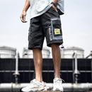 夏季工装裤男多口袋休闲短裤国潮ins五分裤宽松立体袋潮牌港风裤