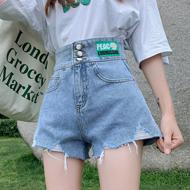 太阳花牛仔短裤女夏2021年新款高腰显瘦百搭阔腿潮流a字热裤子潮