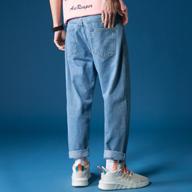 ins裤子男韩版潮牌破洞阔腿9九分牛仔裤男chic宽松直筒坠感老爹裤