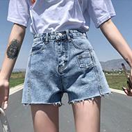 夏季牛仔短裤女2020春新款韩版chic宽松显瘦阔腿高腰薄款a字热裤