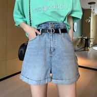 高腰牛仔短裤女超高腰夏季宽松阔腿a字2021年新款夏装薄款女装潮
