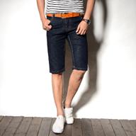 夏季薄款牛仔短裤男直筒宽松马裤5分裤子男士五分裤休闲中裤潮流