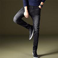 牛仔裤男修身春季新款男士休闲弹力显瘦小脚裤子韩版潮流长裤