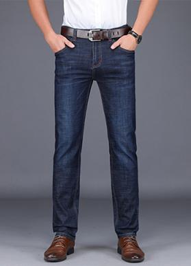 2020春季新款男士牛仔裤男商务休闲长裤直筒宽松弹力夏季薄款8952