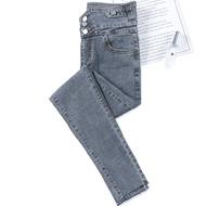 高腰牛仔裤女显瘦显高紧身小脚裤2020新款修身弹力瘦腹铅笔裤长裤
