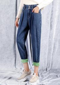 318加绒款 加厚加绒老爹裤 蓝色 灰色 S-XL码 43元 全网限价69元