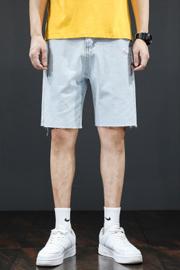 夏 外穿牛仔短裤2021新款男装五分裤简约时尚潮流百搭学院风 牛仔