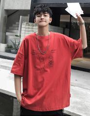 【官图】74173#短袖男五分袖男t恤男2020夏季新款时尚上衣大码男装