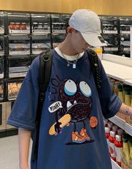 【官图】74275#短袖男五分袖男t恤男夏季新款时尚上衣大码男装