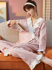 2021新款春秋季长袖休闲宽松大码家居服甜美可爱可外穿套装