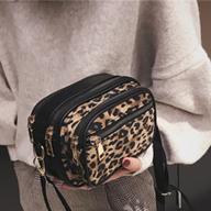 6872#豹纹多层小方包网红同款女包