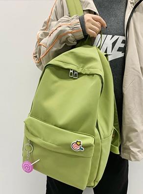 秀龙网供 自拍图#9911纯色棒棒糖ins双肩包(现货,带视频)