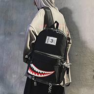 秀龙网供 自拍图#0194潮酷情侣双肩包(现货,带视频)