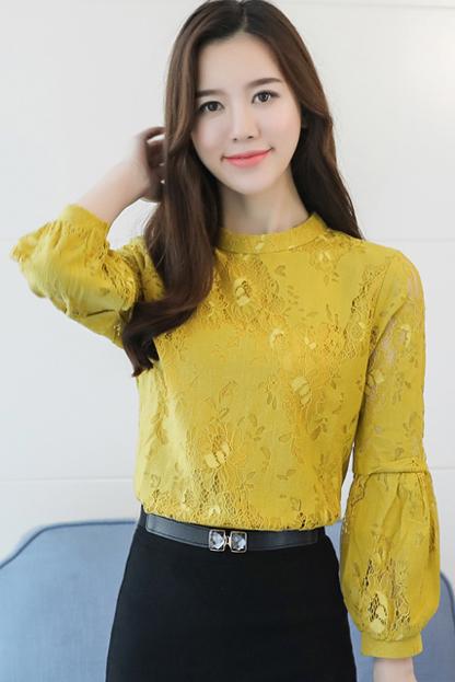 加绒6053实拍新款女装韩版打底衫长袖t恤秋冬季百搭蕾丝上衣服潮