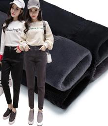 2017冬季新款黑色加绒加厚牛仔裤女韩版高腰显瘦黑绒学生小脚2266