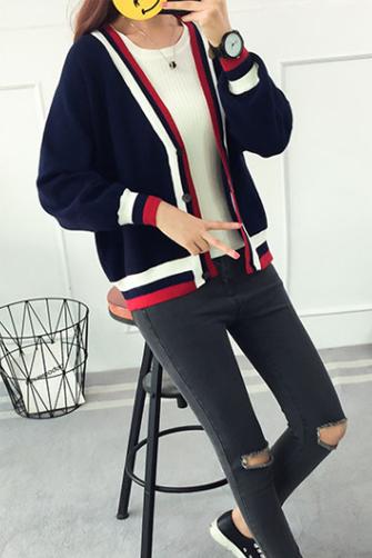 2017秋装冬季新款韩版长袖外搭中短针织毛线上衣开衫风外套8087