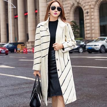 韩模实拍6692#羊剪绒大衣女士冬中长款2017新款韩版海宁皮草外套