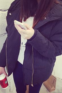 韩5#2017韩版秋冬装棉袄外套超温暖面包蓬蓬直筒长袖棉衣棉服女
