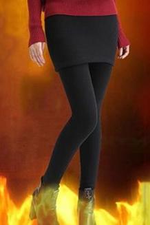 1488#秋冬款不倒绒加绒加厚假两件打底裤女生冬季保暖裤