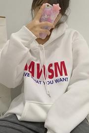 907#实拍 韩国INS同款2017新款ulzzang连帽字母BF风套头卫衣男女