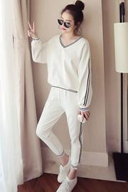 9851春秋新款休闲运动套装女夏韩版大码宽松时尚显瘦长裤两件套潮