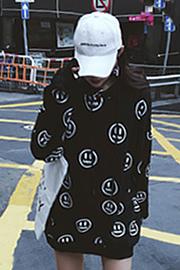 笑脸卫衣【实拍】【加绒】#17SS口袋恶魔小鬼脸印花笑脸帽衫潮男