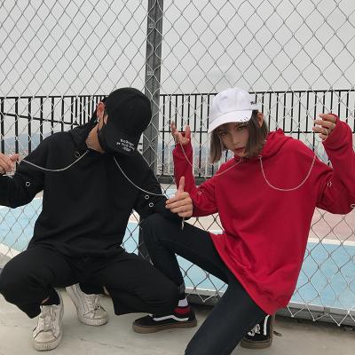 秋季连帽套头卫衣男韩版修身潮学生假两件长袖卫衣帽衫男运动外套
